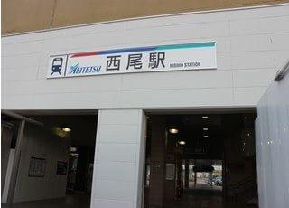 西尾城下町矯正歯科ブルーノは西尾駅 出口から徒歩5分のところにございます。