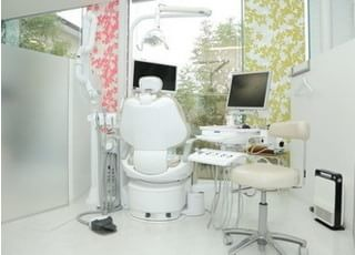 診療室です。治療について不安な点がありましたら、お気軽にご相談ください。