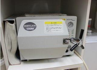 滅菌器です。使用する器具は全て滅菌処理をおこなっています。