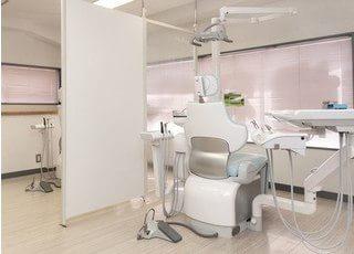 診療室はパーテーションで仕切られているので、患者様のプライバシーをしっかりとお守りします。