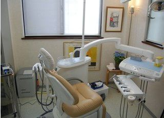 診察室です。治療に関して、心配事などございましたら、お気軽にご相談ください。