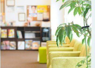 観葉植物なども飾っておりリラックスできる空間です。