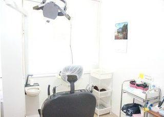 診療室です。陽の光が差し込む、明るい空間です。