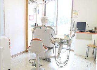 窓が大きく明るい診療室です。