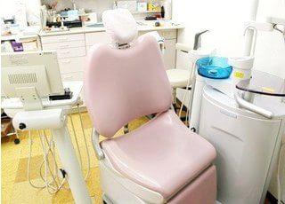 診療室です。清潔感が、ございます。
