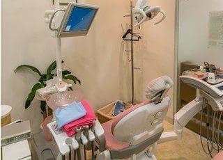 診療室にはモニターを設置しているので、画面を見ながら治療が受けられます。