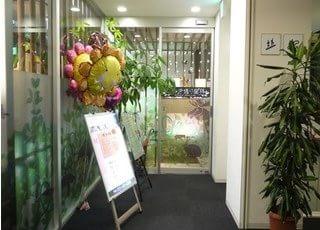なみき通り歯科の入口です。道徳駅から徒歩7分のメディコート3階にあります。