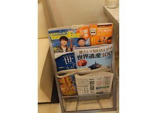 雑誌や新聞をご用意しておりますので、ご自由にお読みください。
