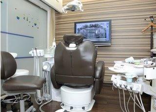 個室診療室です。周りを気にせずリラックスしながら治療が受けられます。