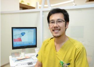 小峰院長です。皆様に愛されるかかりつけ歯科医として、地域医療に貢献致します。
