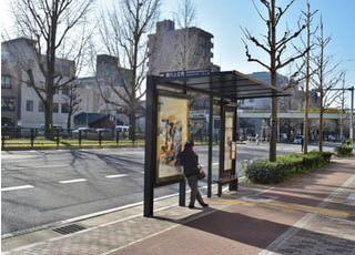近くにバス停もございます。
