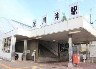 最寄の荒川沖駅です。