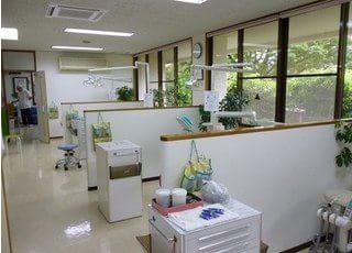診療室には仕切りがあるので、人目が気になりません。