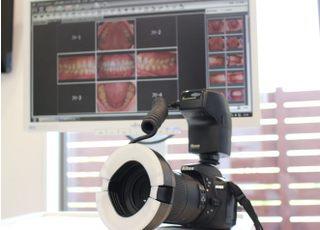 口腔内カメラでご自身のお口の状態を確認いただけます。