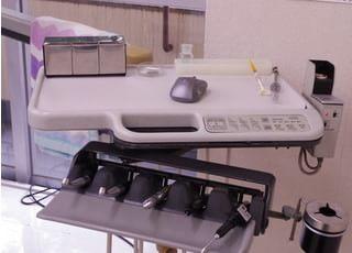さまざまな医療器具を活用して、診療に臨んでおります。