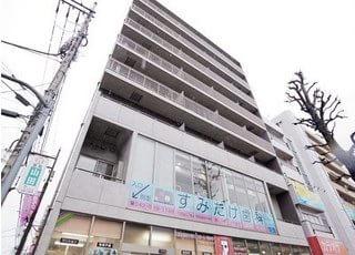 すみたけ歯科はこちらのビルの2階で診療を行っております。