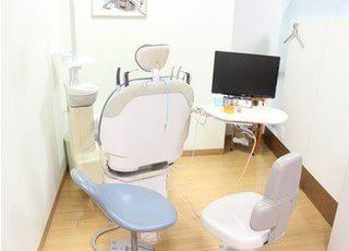 診療室は個室制になっているので安心して治療に専念できます。