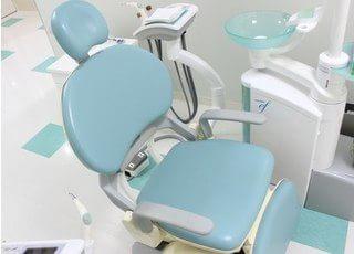 診療チェアです。口腔内のお悩みや不安などお気軽にご相談下さい。