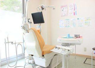 明るい診療室です。気になることがございましたらお気軽にご相談ください。