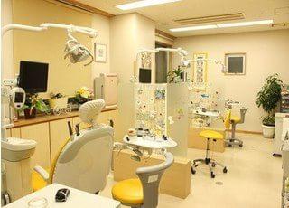 診療室には仕切りがございます。