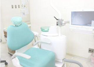 診療ユニットです。モニターを使用した分かりやすい説明を行っております。