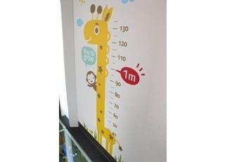 身長を測れるコーナーもあります。