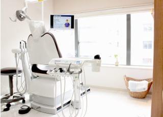 診療室は患者様のプライベートに配慮し、それぞれが仕切られた個室と半個室の診療室となっております。
