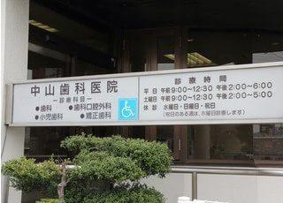 看板には当院の情報が記載されています。ご参考下さい。