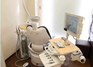 半個室の診療室でリラックスして治療を受けていただけます。