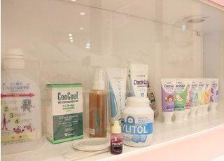 おすすめのデンタル用品を販売しています。お求めの際には今井歯科のスタッフまでお声かけください。