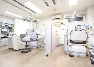 診療スペースはブースごとに区切られており人の目を考慮した空間となっております。