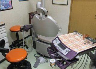診療室です。お子様の歯のお悩みをご相談下さい。