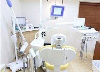 診療室です。歯や口腔内に関するお悩みがありましたらいつでもご相談ください。