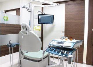 診療室は区切られていますので周りを気にせずに治療を受けられます。