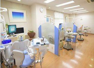 明るく広々とした診察室です「。