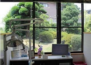 窓から安らぐ緑を見て頂く事ができます。