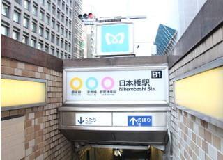 日本橋りゅうデンタルクリニックアクセスが便利1