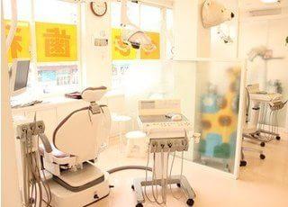 診療室です。清潔な環境で治療をいたします。