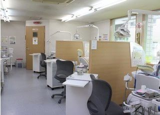 診療室です。清潔感のある空間を心がけております。