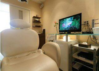 メンテナンスルームです。歯科衛生士による治療は、こちらでお受けいただきます。