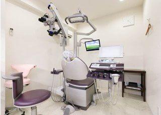 個室の診療室です。周りを気にする事なく治療を受けていただけます。