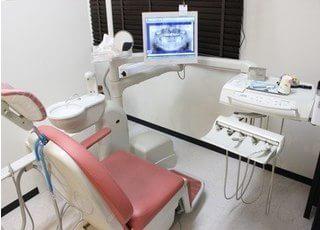 モニター画面付きの診療チェアですので、ご自身の口内状態を確認できます。