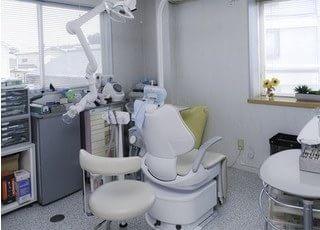 診療室です。オーダーメイド感溢れる歯科医療をご提供いたします。