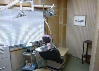 診療室には、リラックスできるように、絵が飾っております。