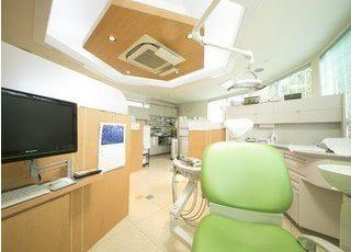 歯科用のユニットです。常に清潔を保っております。