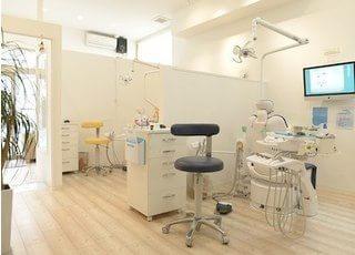 診療室も区切られていますので、周りを気にせず治療できます。