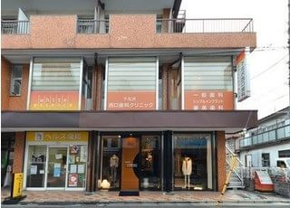 下北沢西口歯科クリニックの外観です。下北沢駅西口を出てすぐの場所にございます。