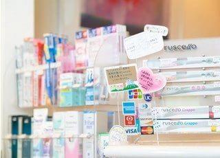 各種歯科用品をご用意しておりますので、お求めの患者様はスタッフまでお声かけください。