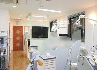 診療室はパーテーションで仕切られておりますので、プライベートスペースを確保いただけます。