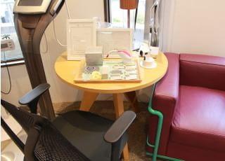 六本木けやき坂デンタルオフィスの待合室の展示です。